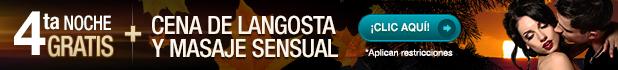 Obtén la 4ta Noche Gratis + Un Masaje Relajante + Una cena de Langosta